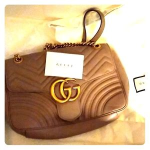 Gucci blush tan handbag